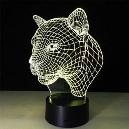 LED Lamp Illusion 3D Puma