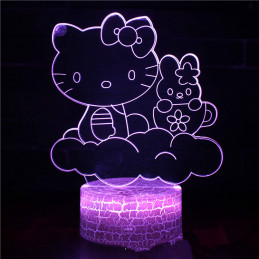 LED Lamp Illusion 3D Hello...
