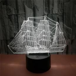 LED Lamp Illusion 3D Ship 2