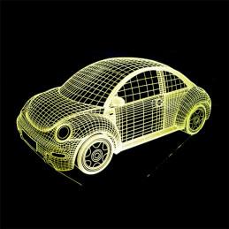 LED Lamp Illusion 3D Car 2
