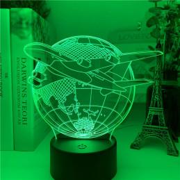 LED Lamp Illusion 3D Plane...