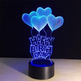 LED Lamp Illusion 3D Happy...