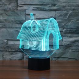LED Lamp Illusion 3D House
