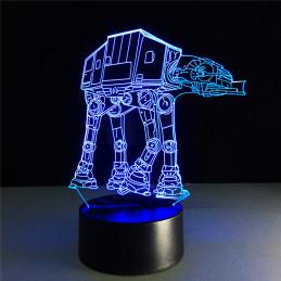 LED Lamp Illusion 3D Robot