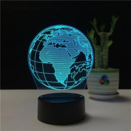 LED Lamp Illusion 3D Globe