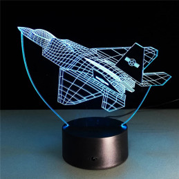 LED Lamp Illusion 3D Fighter 1