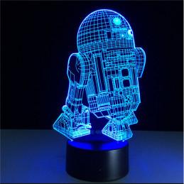 LED Lamp Illusion 3D Robot 2