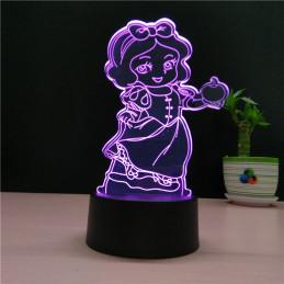 LED Lamp Illusion 3D Snow...