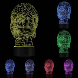 LED Lamp Illusion 3D Budha 3