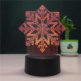 LED Lamp Illusion 3D Snowflake