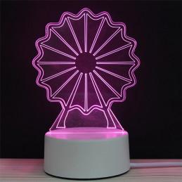 LED Lamp Illusion 3D Wheel