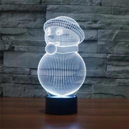 LED Lamp Illusion 3D Snowman 2