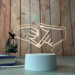 LED Lamp Illusion 3D Hands