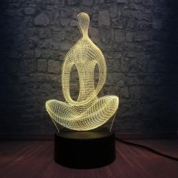 LED Lamp Illusion 3D Statue 1