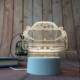 LED Lamp Illusion 3D Car 3