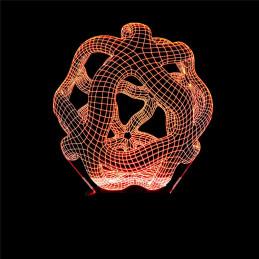 LED Lamp Illusion 3D Statue 2