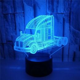 LED Lamp Illusion 3D Truck
