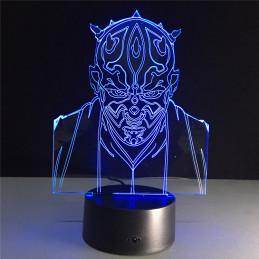 LED Lamp Illusion 3D Devil
