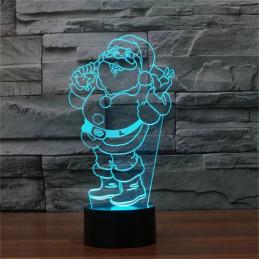 LED Lamp Illusion 3D Santa 1
