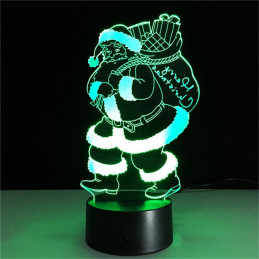 LED Lamp Illusion 3D Santa 2