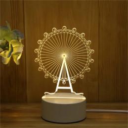 LED Lamp Illusion 3D Ferris...