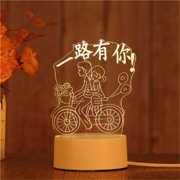 LED Lamp Illusion 3D Couple...