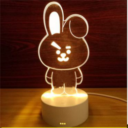 LED Lamp Illusion 3D Bunny 3