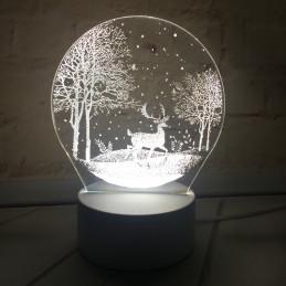 LED Lamp Illusion 3D Winter