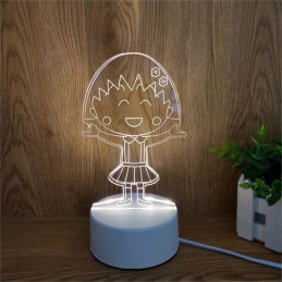 LED Lamp Illusion 3D Girl