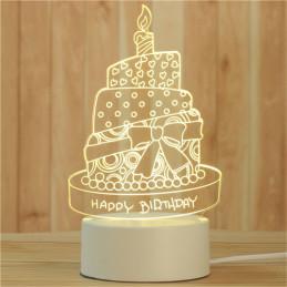 LED Lamp Illusion 3D Cake
