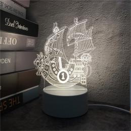 LED Lamp Illusion 3D Ship 3