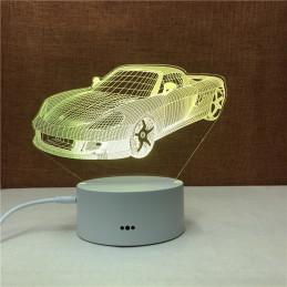 LED Lamp Illusion 3D Car 5