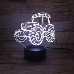 LED Lamp Illusion 3D Traktor