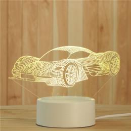 LED Lamp Illusion 3D Car 6