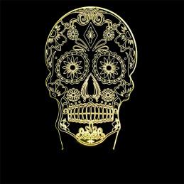 LED Lamp Illusion 3D Skull 3