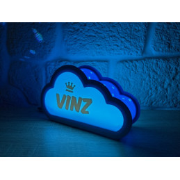 Cloud lamp with name